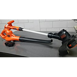 Recortadora + kit de barredora 20 volt Black & Decker